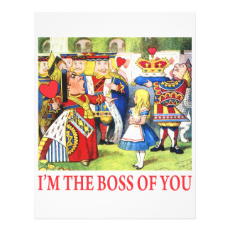 ALICE - I'M THE BOSS OF YOU 21.5 CM X 28 CM FLYER