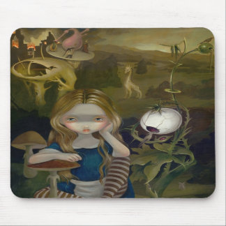Alice in a Bosch Landscape wonderland Mousepad
