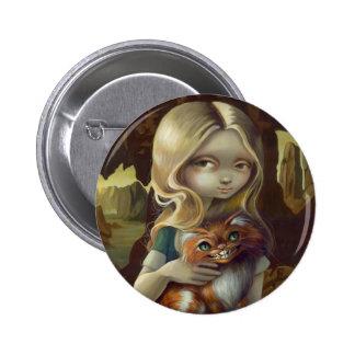"""""""Alice in a Da Vinci Portrait"""" Button"""