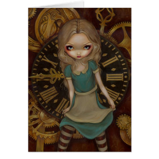 """Alice in Clockwork"" Greeting Card"