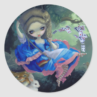 """Alice in Fragonard's Swing"" Sticker"