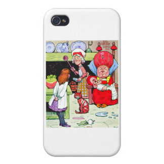 Alice in the Duchess Kitchen with the Pig Baby iPhone 4 Covers