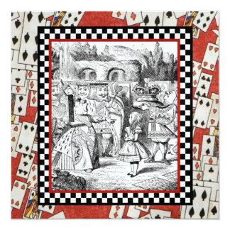 Alice in the Queen's Courtyard 1 13 Cm X 13 Cm Square Invitation Card