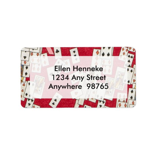 Alice in the Queen's Courtyard 1 Address Label