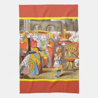 Alice in the Queen's Courtyard 2 Tea Towel
