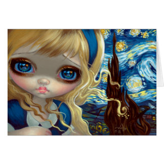 """Alice in the Starry Night"" Greeting Card"