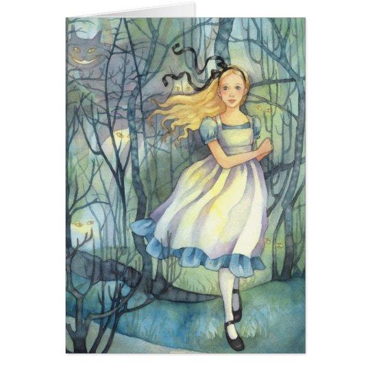 Alice in the Tulgey Wood - Wonderland Card
