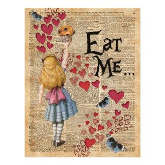Alice in the Wonderland Eat Me Muffin 21.5 Cm X 28 Cm Flyer