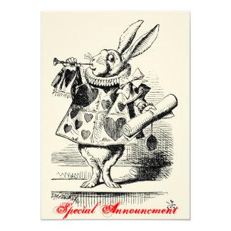 Alice in Wonderland 13 Cm X 18 Cm Invitation Card