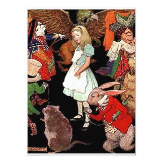Alice in Wonderland 14 Cm X 19 Cm Invitation Card