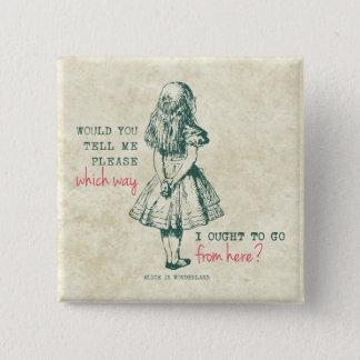 Alice in Wonderland 15 Cm Square Badge