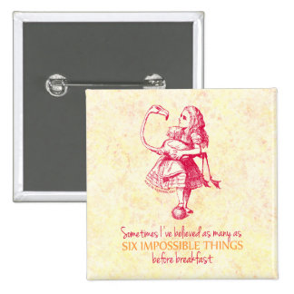 Alice in Wonderland 15 Cm Square Badge