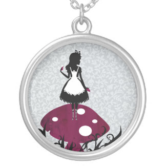 Alice in Wonderland 4 Silver Plated Necklace