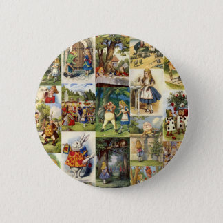 alice in wonderland 6 cm round badge