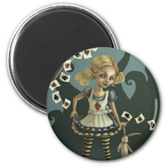 Alice in Wonderland 6 Cm Round Magnet