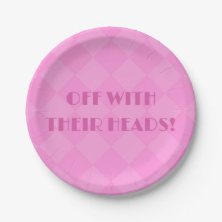 Alice in Wonderland 7inch Pink Paper Plates