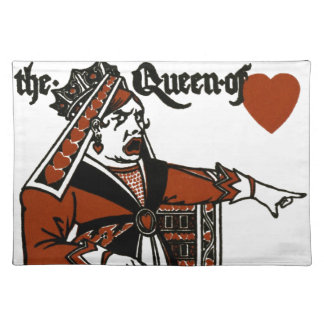 Alice In Wonderland; A Play. The Queen of Hearts Placemat