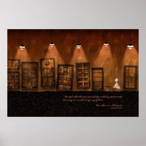 Alice in Wonderland - A Tiny Golden Key Poster