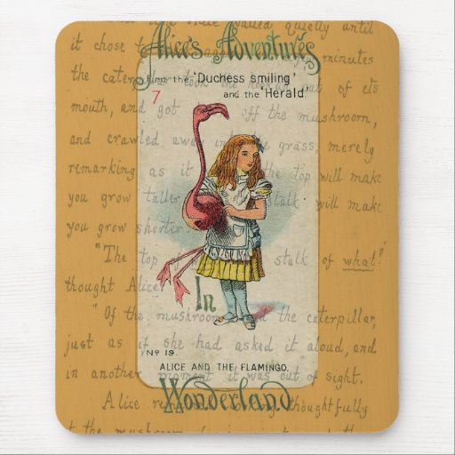 Alice in Wonderland: Alice and the Flamingo Mousepads