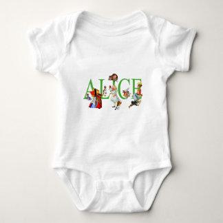 ALICE IN WONDERLAND AND FRIENDS BABY BODYSUIT