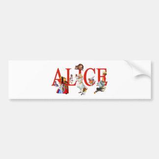 Alice in Wonderland and Friends Bumper Sticker