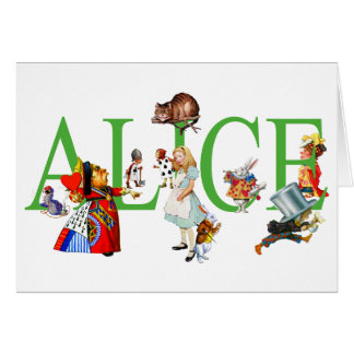 ALICE IN WONDERLAND AND FRIENDS CARD
