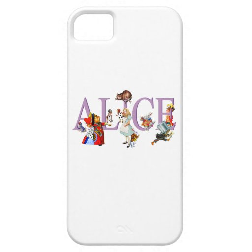 Alice in Wonderland and Friends iPhone 5 Covers