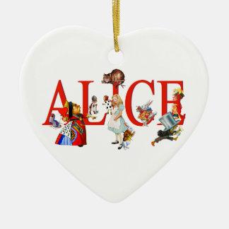 Alice in Wonderland and Friends Ceramic Heart Decoration