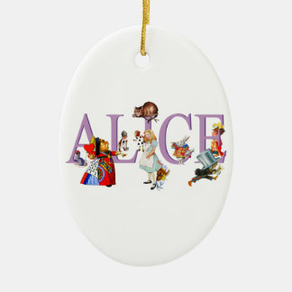 Alice in Wonderland and Friends Ceramic Oval Decoration