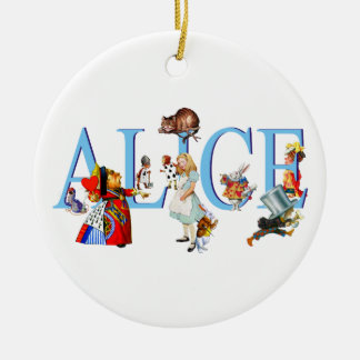 Alice in Wonderland and Friends Christmas Ornament