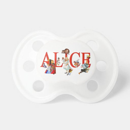 Alice in Wonderland and Friends Baby Pacifier