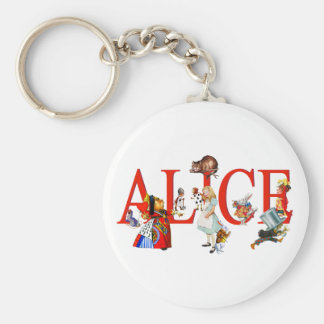 Alice in Wonderland and Friends Key Ring