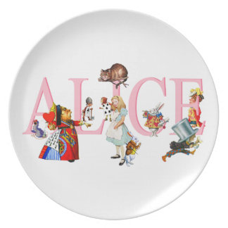 Alice in Wonderland and Friends Plate