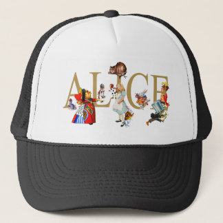 ALICE IN WONDERLAND AND FRIENDS TRUCKER HAT