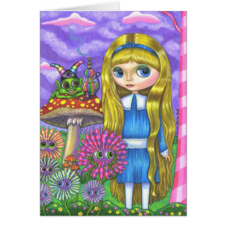 Alice in Wonderland and the Caterpillar Card