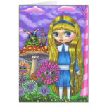 Alice in Wonderland and the Caterpillar Cards