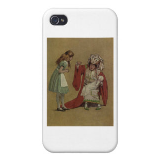 Alice in Wonderland and the Duchess and the Pig Covers For iPhone 4