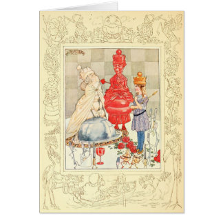 Alice in Wonderland and the Fish Riddle Greeting Card