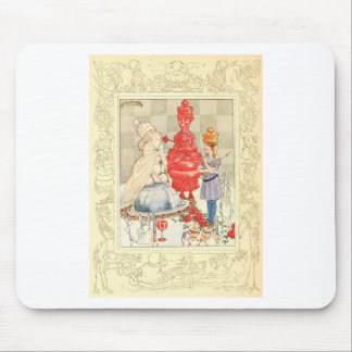 Alice in Wonderland and the Fish Riddle Mouse Pads
