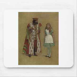 Alice in Wonderland and the King of Hearts Mouse Pads