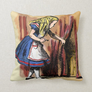 Alice in Wonderland and the Small Door Pillow