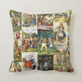 Alice in Wonderland and Through the Looking Glass Throw Pillow