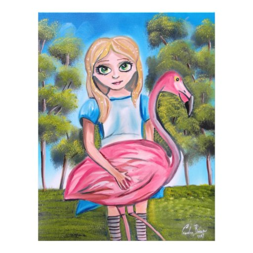 ALICE IN WONDERLAND Art by Gordon Bruce Full Color Flyer