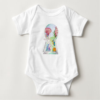 Alice in Wonderland Baby Baby Bodysuit