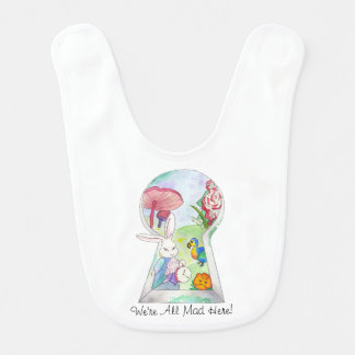 Alice in Wonderland Baby Bib