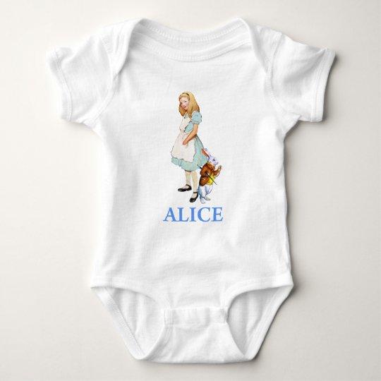ALICE IN WONDERLAND BABY BODYSUIT