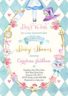 Alice In Wonderland Invitations Announcements Zazzle Uk