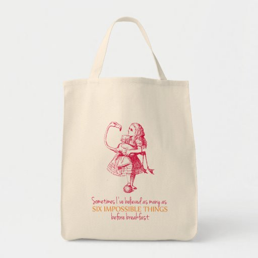 Alice in Wonderland Canvas Bag