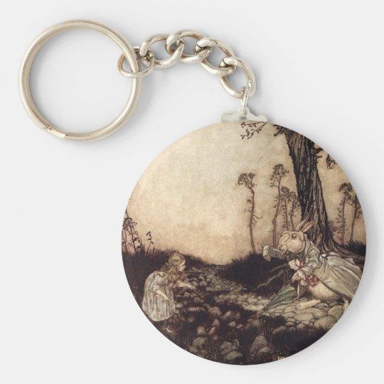 Alice in Wonderland Basic Round Button Key Ring
