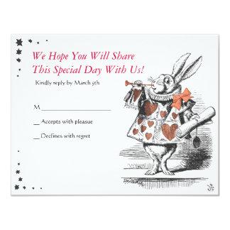 Alice In Wonderland Bat Mitzvah Reply Card 11 Cm X 14 Cm Invitation Card